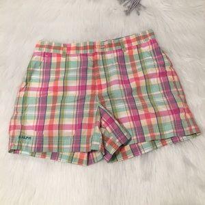 Ralph Lauren Pastel Pink & Green Plaid Shorts